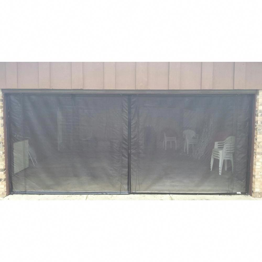Fresh Air Screens 16 Ft X 8 Ft 3 Zipper Garage Door Screen Garage Doors Garage Screen Door Garage Door Design
