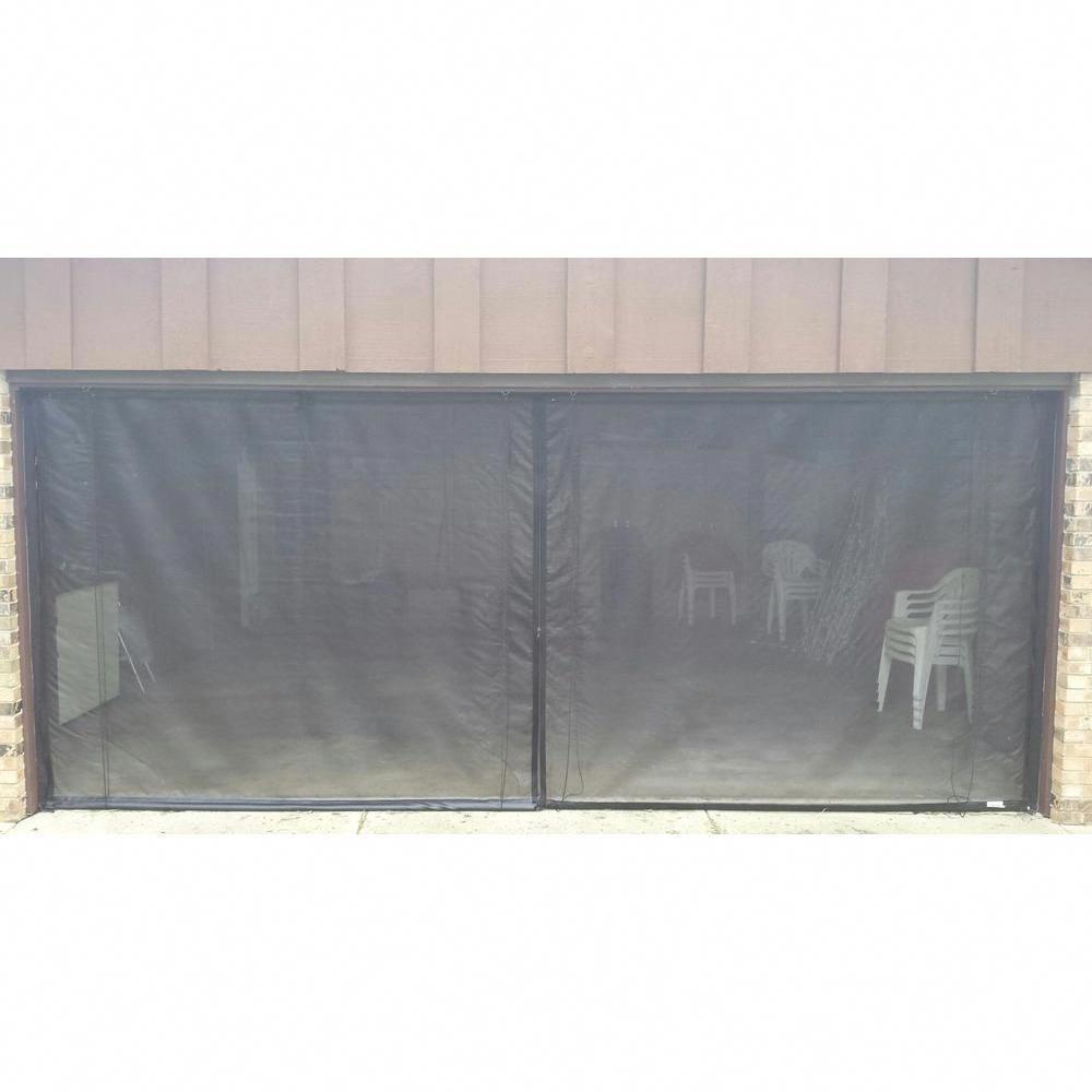 Fresh Air Screens 16 Ft X 8 Ft 3 Zipper Garage Door Screen Garage Doors Garage Screen Door Garage Door Design