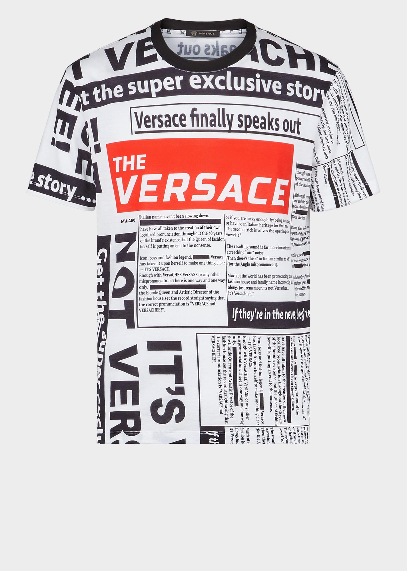 b6508bd3f VERSACE Tabloid Print Slim Fit T-Shirt. #versace #cloth | Versace in ...