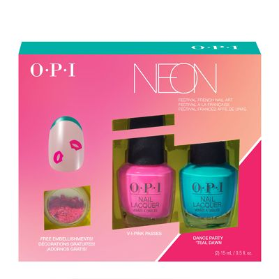 Opi Pump Neon Collection Nail Art Duo 1 2 X 15ml Limited
