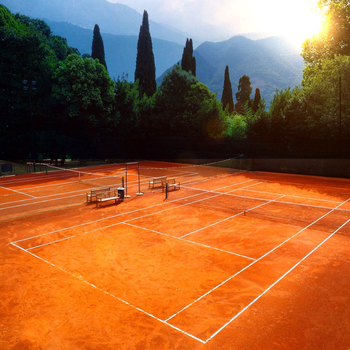 This is another beautiful clay court in the world. Tennis