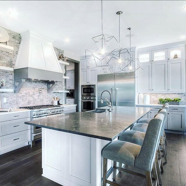 regram quadranthomes lve this stunning kitchen and what an island notice the extended on kitchen remodel no island id=78149