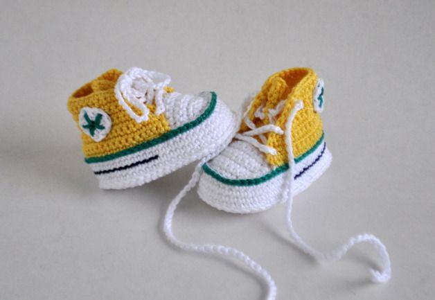Babyschuhe gehäkelt Turnschuhe Sneakers | Baby & Kids Stuff ...