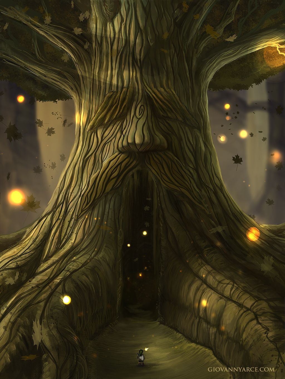 Deku Tree - The legend of zelda, Ocarina of time by GiovannyArce.deviantart.com on @deviantART