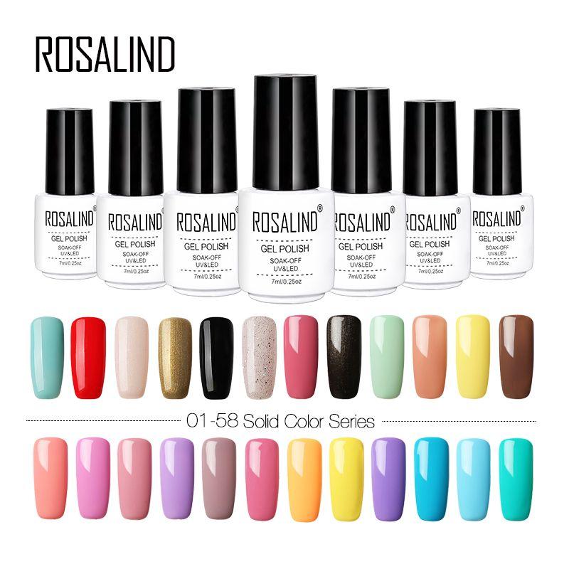 Best Price Rosalind Gel Nail Polish Uv Color Vernis Semi Permanent Gel Varnish Hybrid Nail Art Manicure Gel Nail Polish Set Uv Gel Nail Polish Nail Polish Sets