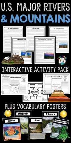 Photo of U.S. Major Rivers & Mountains – Major Rivers of the United States Activity Pack