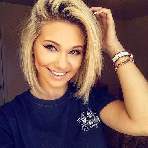 Short Hairstyles For Round Faces Fair 20 Latest Short Hairstyles For Round Face Shape  Latest Short