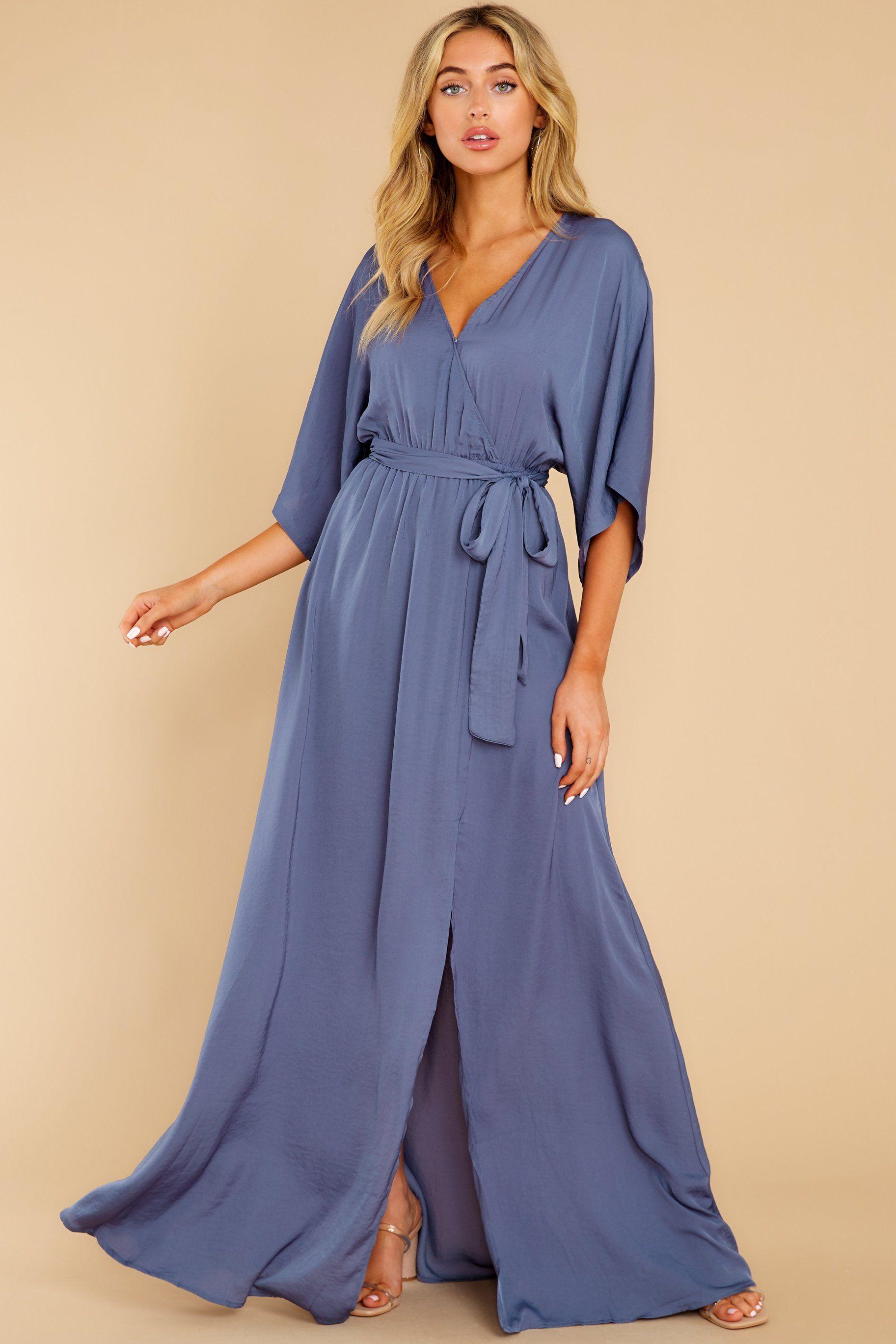 Stylish Blue Dress Belted Surplice Maxi Dress Dress 49 00 Maxi Dress Red Dress Boutique Chic Maxi Dresses [ 2738 x 1825 Pixel ]