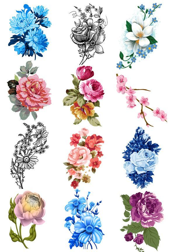 Vintage Floral Temporary Tattoo Set Tattoos And Piercings