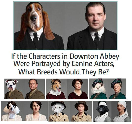 Check out your favorite Downton Abbey characters, dawgs. #AETN #BeMore