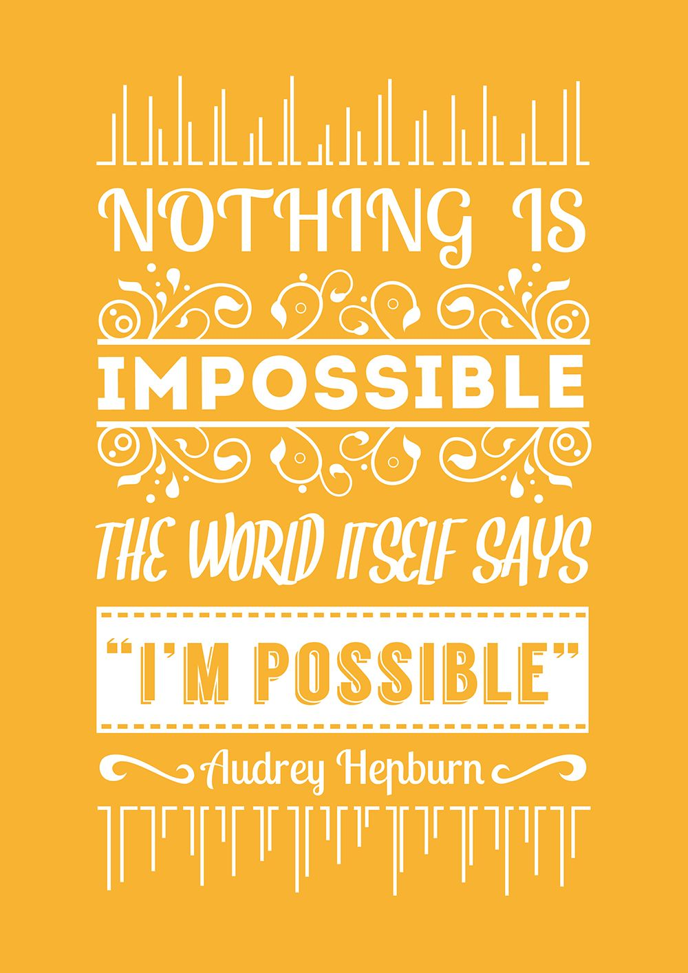 Some practice on a Audrey Hepburn Quote. #mywork #design #quote ...