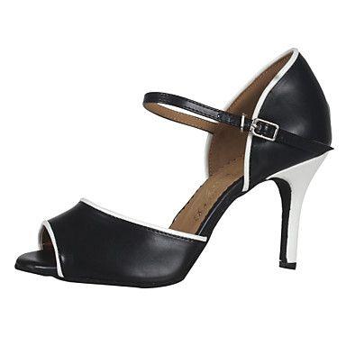 Women's Simple PU Upper Ankle Strap Ballroom Latin Dance Sandals Dance Shoes