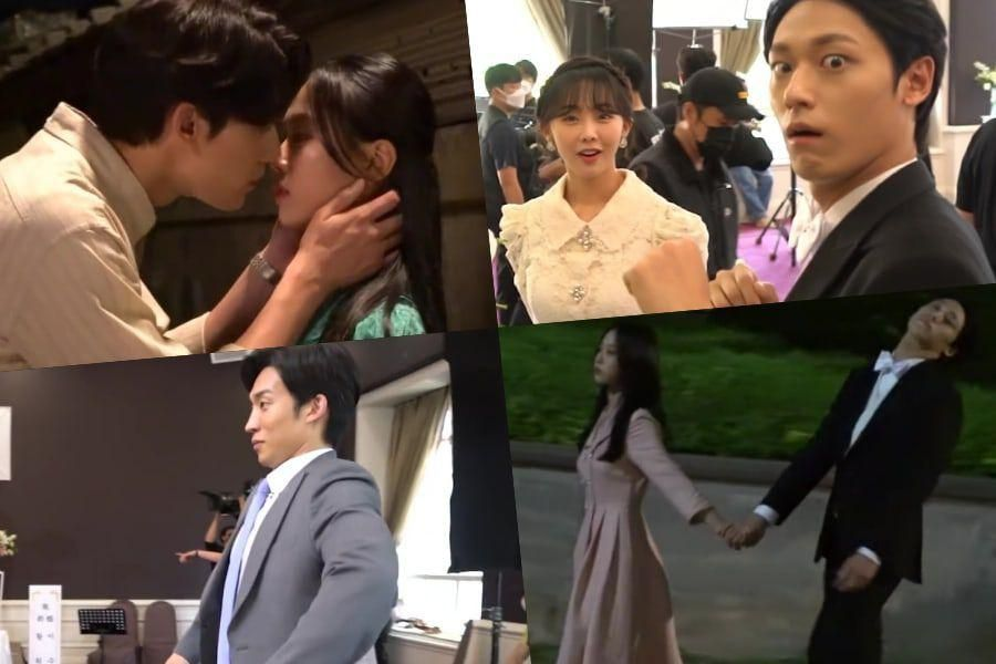 """Watch: Lee Do Hyun And Go Min Si Film Romantic Scenes + Show Playful Chemistry With Cast On """"Youth Of May"""" Set"""