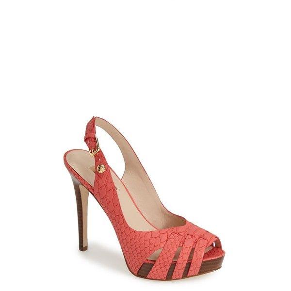 606882c017e9 Shoes high heels · GUESS  Haben  Peep Toe Platform Sandal