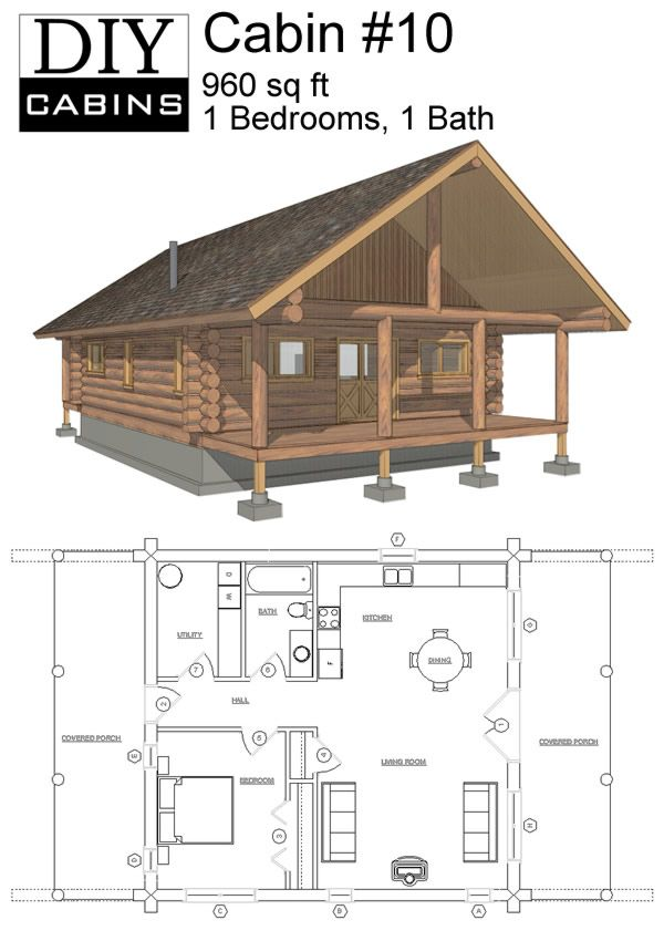 Cabin 10 Small Cabin Plans Cabin House Plans Tiny House Cabin