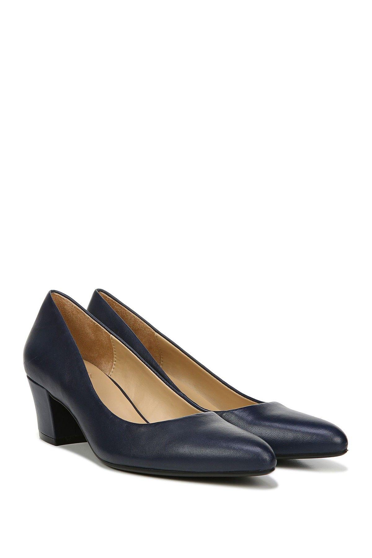 Carmen Leather Block Heel Pump