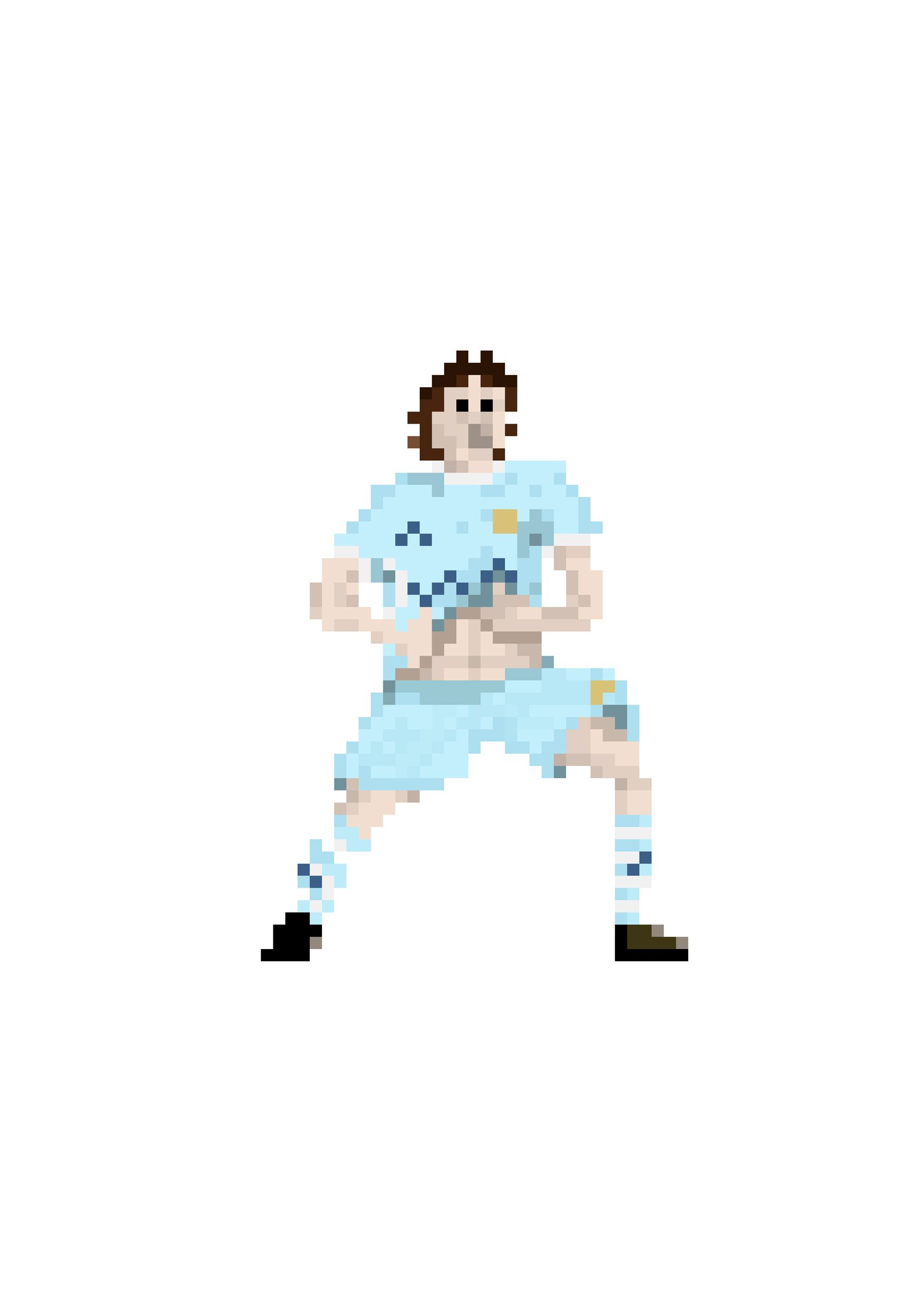Manchester City Aguero Pixel Player Art Print Football Poster Sergio Aguero Poster Football Gifts Soccer Art Illustrated Print City In 2020 Art Print Collection Art Prints Art