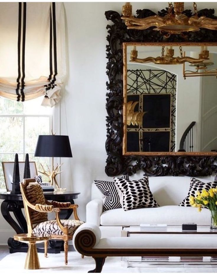 Black White And Gold Living Room Designs Living Room Remodel Living Room Decor