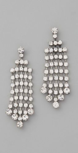 Club Monaco Crystal Dangle Earrings $40