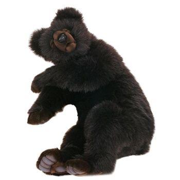 Lifelike Large Sleeping Brown Bear Stuffed Animal By Hansa Bears