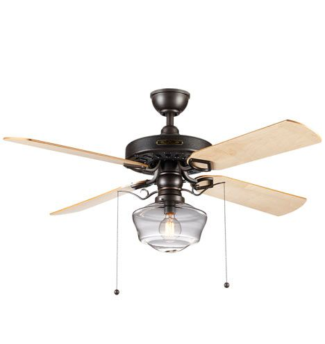 Heron ceiling fan with clear ogee shade ceiling fan light kitsceiling