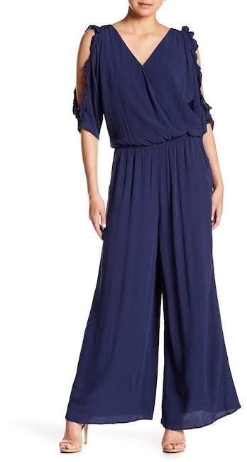 bb0a9eb5e65 Cynthia Steffe CeCe by V-Neck Ruffled Jumpsuit