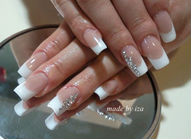 Unghii French Mireasa Căutare Google Wow French Nails Nail
