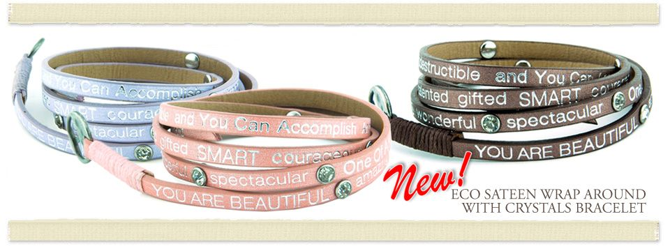 Eco Friendly & Vegan!!! These NEW Good Works You Are Beautiful bracelets have a gorgeous sateen finish.....We promise you will ♥ them, they're really pretty!!! Click here to purchase: http://www.hangin-around.com/Good-Works-You-Are-Beautiful-ECO-Sateen-Bracelet-p/gw-youare-eco.htm.