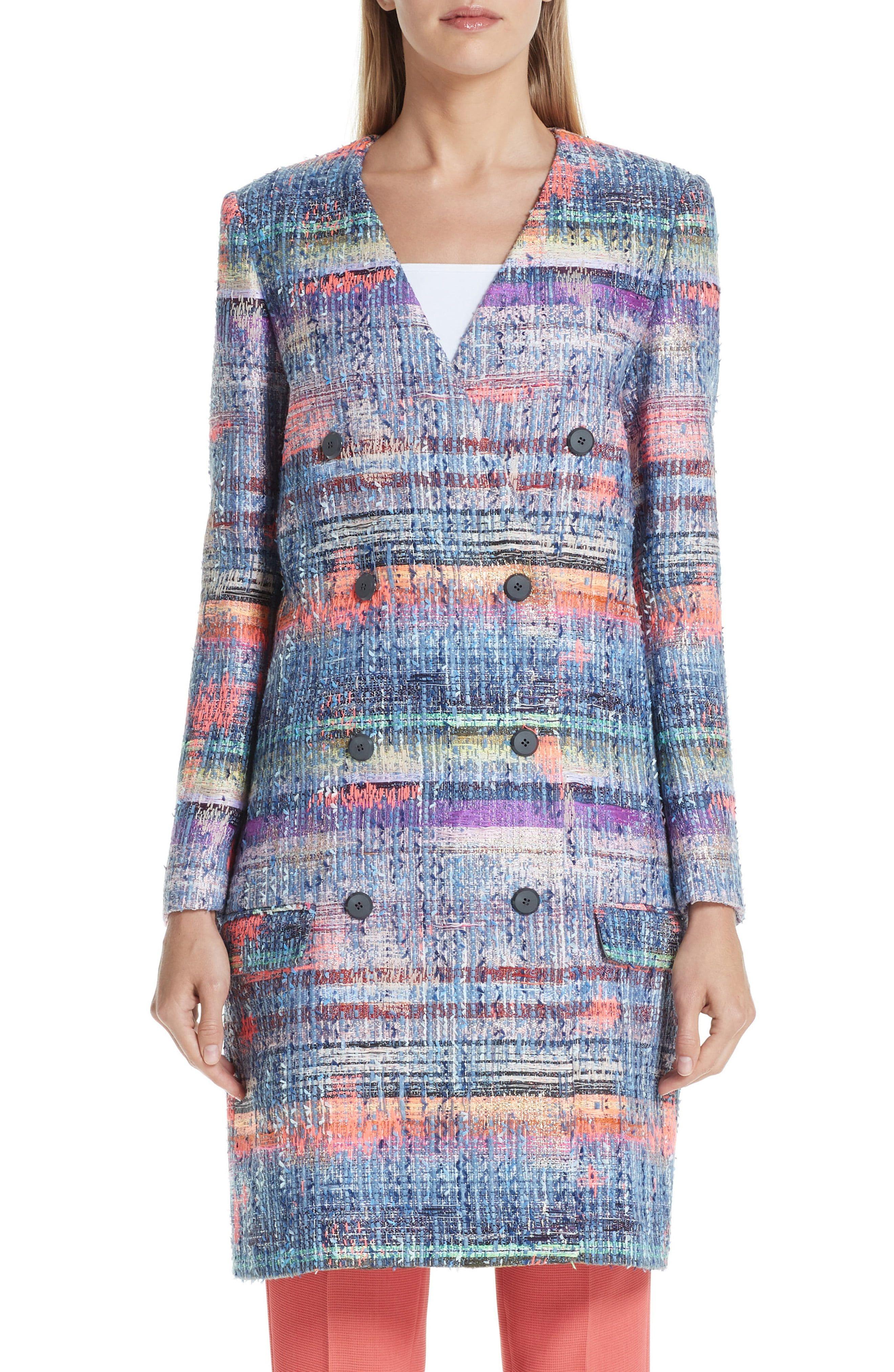 087b504b Women's Emporio Armani Tweed Coat, Size 2 US / 38 IT - Grey in 2019 ...