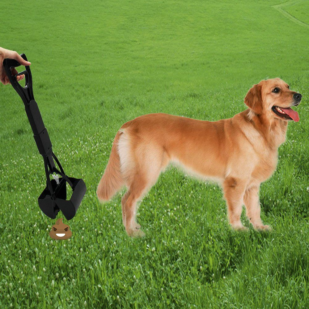 Pooper Scooper For Pet Wastebest Long Handle Jaw Clamp Scooper