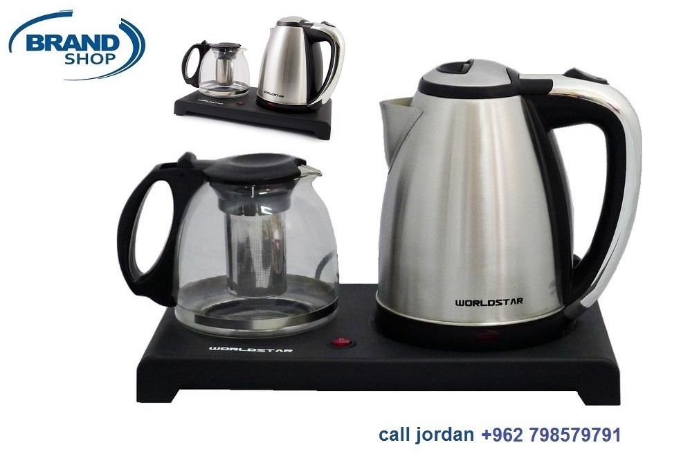 Electrical Tea Kettle Set 2 In 1 Stainless Steel Glass World Star 2 In 1 Tea Kettle Electrical Tea Kettle Kettle Electric Kettle