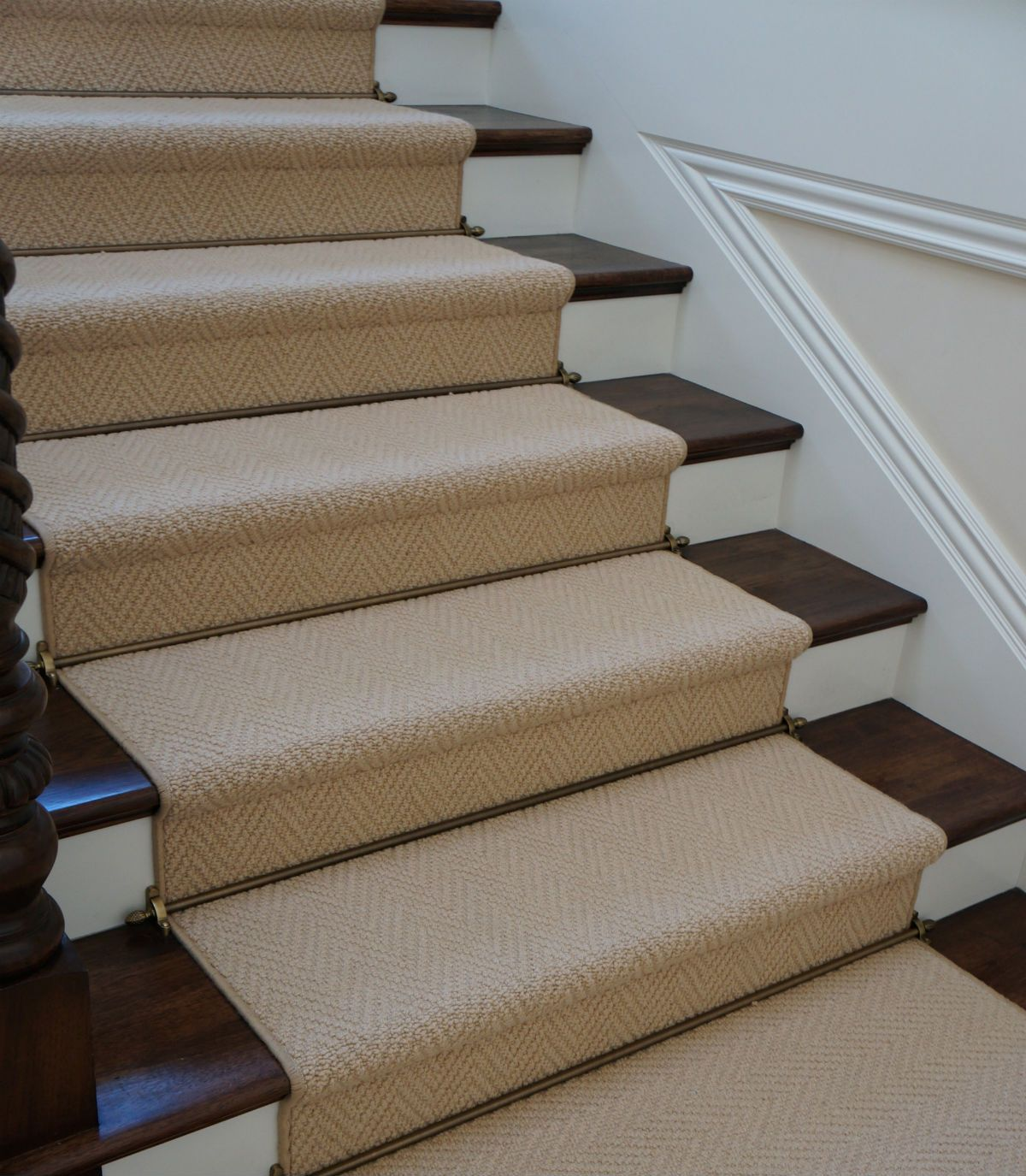 Install Carpet Runner Wood Stairs Stair Runners Seagrass Stair