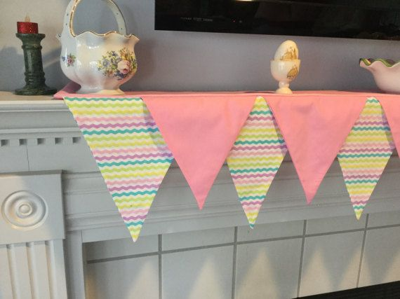 Spring Time mantel scarf for fireplace housewarming or