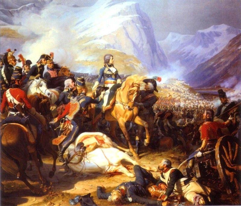 El general Bonaparte en la batalla de Rívoli en 1707 Más en www.elgrancapitan.org/foro