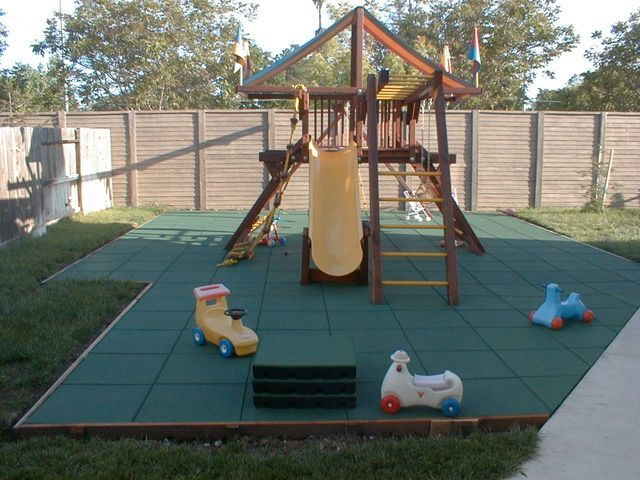 Nifty Little Backyard Playground Rubber Tiles Are A Great Choice For Keeping Littles Ones Safe At Home Pl Backyard Playground Backyard For Kids Backyard Fun