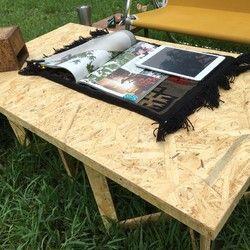 Low コンパクト折りたたみosbテーブル ローテーブル テーブル 折りたたみ