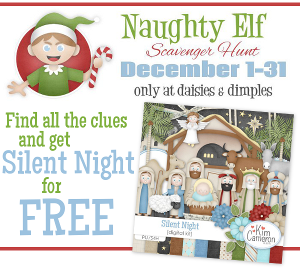 Naughty Elf Scavenger Hunt at Daisies and Dimples