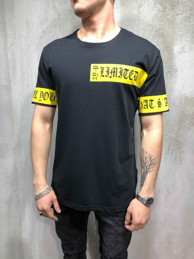 c100c944f Chest and Sleeves Extended Graphic Tee . Bear the tag of style icon on your  shoulders, by wearing this graphic t-shirt for men, order fast, ...