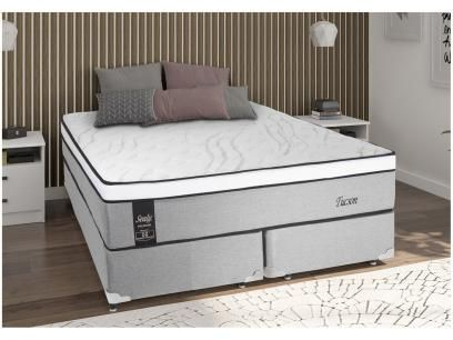 Cama Box Queen Size Box Colchao Sealy Molas Ensacadas Pocket