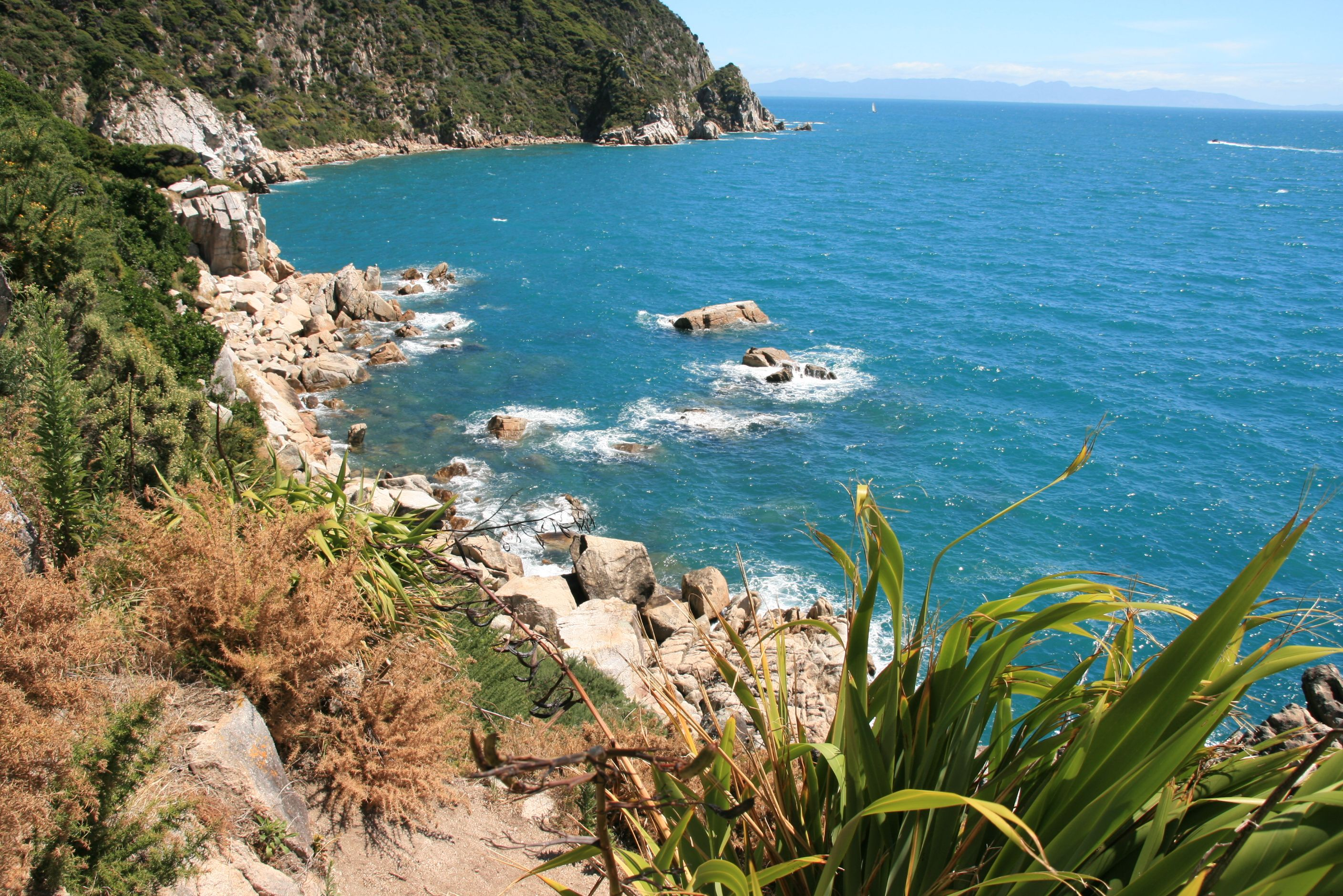 A beautiful day in the Abel Tasman National Park with a nice view to the sea