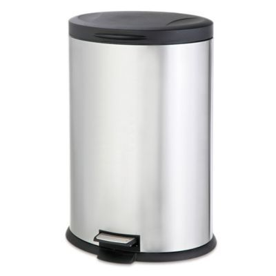 Salt Stainless Steel Oval 40 Liter Step Trash Can Products