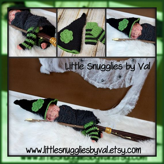 LSBV Newborn Witch Photo Prop Set by LittleSnuggliesbyVal on Etsy, $32.95