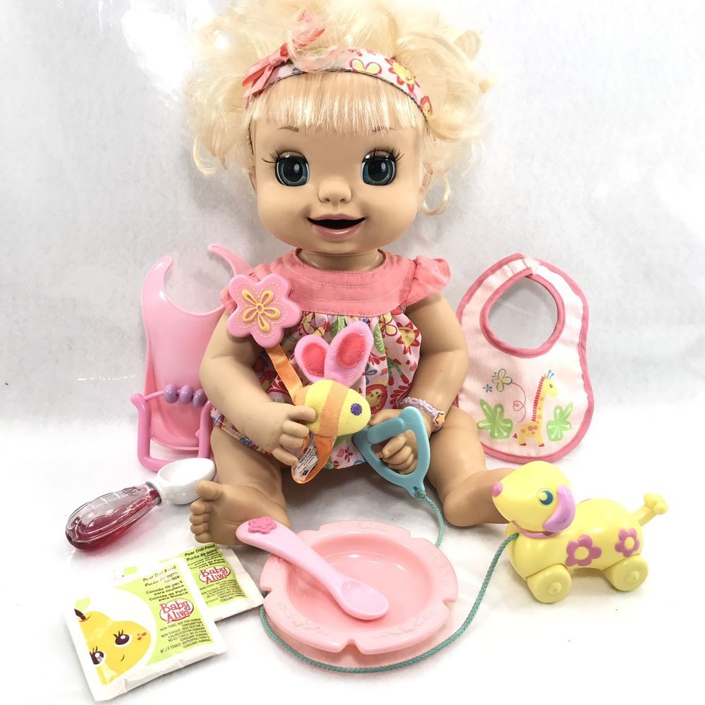 Hasbro Baby Alive Doll Soft Face Learn To Potty 2007 W Dress Blonde Works Clean Ebay Baby Alive Dolls Baby Alive Baby Dolls