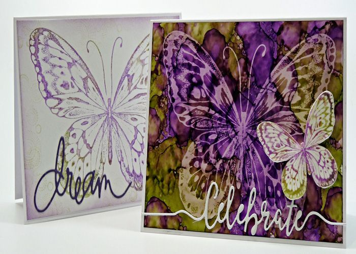 Butterfly Lift Card Ink Pads Custom Cards Stamp Design