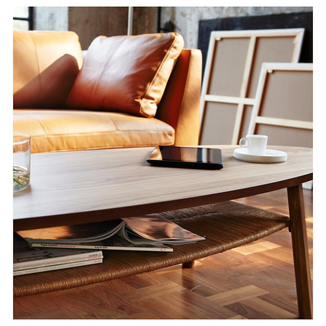 Stockholm Coffee Table Walnut Veneer 70 7 8x23 1 4 With