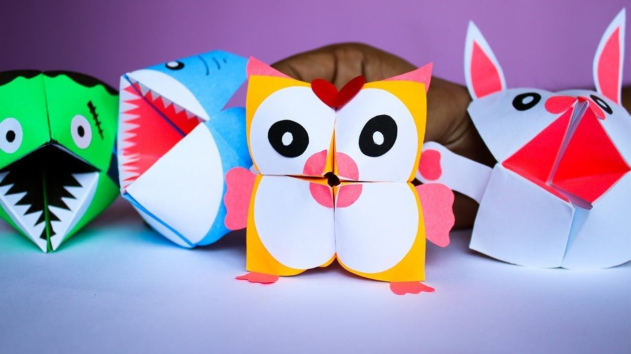 Paper Craft Ideas For Kids Diy Origami Animals Cootie Catcher