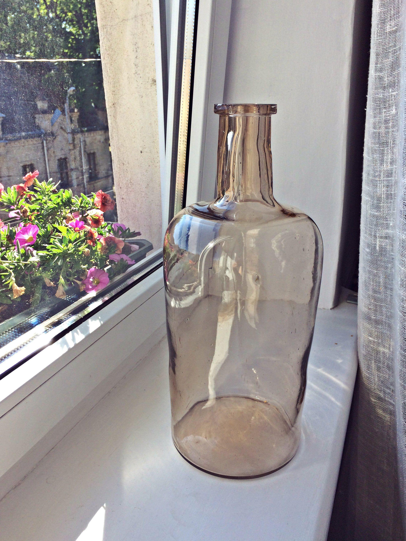 Wedding decorations house  Antique glass bottle Vintage glass bottle Glass bottle decor Thick