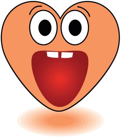 Gasp Heart Emoticon Face Icon Emoticon