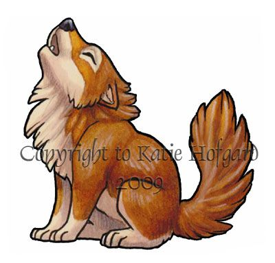Tiny Wolf Drawing Little Brown Wolf Sticker By Shadow Wolf