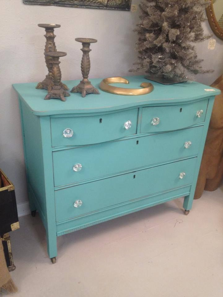Tiffany Blue Shabby Chic Dresser With Glass Knobs Perfect For A Girls Bedroom Very Dainty Www